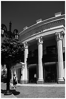 Woman shops near Rodeo Drive. Beverly Hills, Los Angeles, California, USA ( black and white)