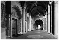 Royce Hall gallery, UCLA, Westwood. Los Angeles, California, USA ( black and white)
