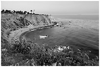 Point Vicente Lighthouse. Los Angeles, California, USA ( black and white)
