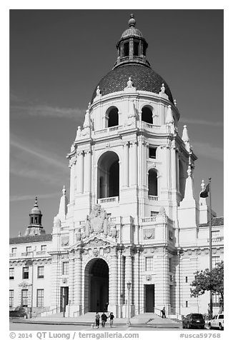 City Hall. Pasadena, Los Angeles, California, USA (black and white)