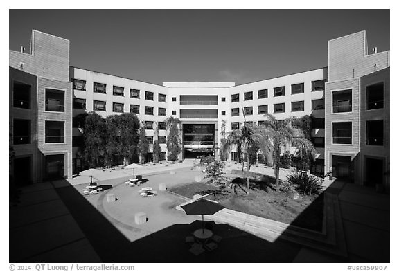 University of California at San Diego campus. La Jolla, San Diego, California, USA (black and white)
