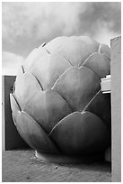 Giant Artichoke, Castroville. California, USA ( black and white)
