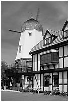 Windmill. Solvang, California, USA ( black and white)