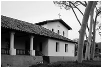 Mission San Luis Obispo de Tolosa. California, USA ( black and white)