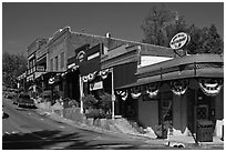 Old town Auburn. Califoxrnia, USA ( black and white)