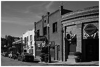 Historic buildings, Auburn. Califoxrnia, USA ( black and white)