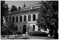 El Dorado County courthouse, Placerville. California, USA ( black and white)