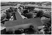 Aerial view of Mission San Miguel. California, USA ( black and white)