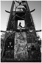 Art installation, Slab City. Nyland, California, USA ( black and white)