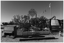 Hostel, Slab City. Nyland, California, USA ( black and white)