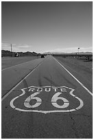 Route 66 marking, Amboy. California, USA ( black and white)