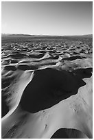 Aerial view of Cadiz dunes and valley. Mojave Trails National Monument, California, USA ( black and white)