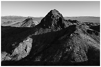 Hart Peak. Castle Mountains National Monument, California, USA ( black and white)