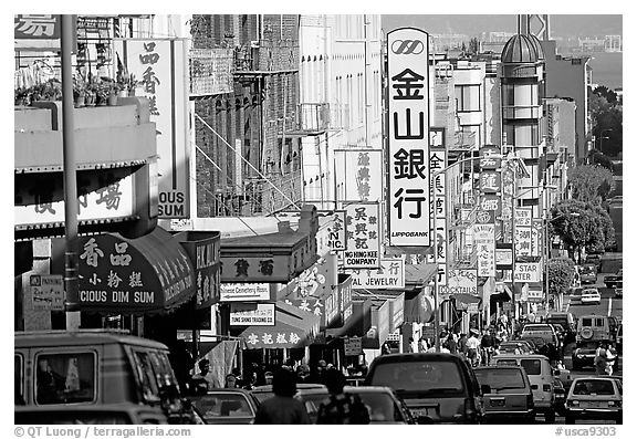Chinatown street. San Francisco, California, USA