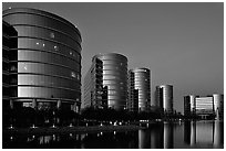 Oracle corporate headquarters. Redwood City,  California, USA (black and white)