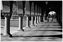 Mauresque style gallery, Main Quad. Stanford University, California, USA ( black and white)