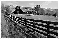 Ranch, Sunol Regional Park. California, USA (black and white)