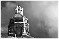 Ice-clad summit, Mt Diablo State Park. California, USA ( black and white)