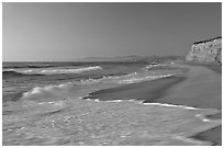 San Gregorio State Beach, sunset. San Mateo County, California, USA (black and white)