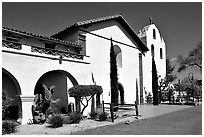 Mission Santa Inez. Solvang, California, USA ( black and white)