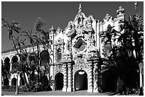 Casa Del Prado, afteroon, Balboa Park. San Diego, California, USA (black and white)