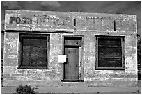 Abandonned post office. Mojave National Preserve, California, USA (black and white)