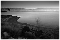 Topaz Lake, late afternoon. California, USA ( black and white)