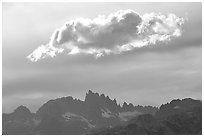 Cloud above the Minarets. California, USA ( black and white)