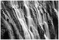 Close-up of Burney Falls, McArthur-Burney Falls Memorial State Park. California, USA (black and white)