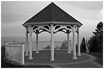 Gazebo, Westbrook. Connecticut, USA ( black and white)