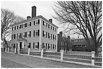 Hawkes House, Salem Maritime National Historic Site. Salem, Massachussets, USA ( black and white)
