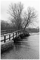 Old North Bridge, Minute Man National Historical Park. Massachussets, USA ( black and white)