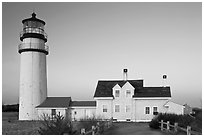 Cape Cod Light, early morning, Cape Cod National Seashore. Cape Cod, Massachussets, USA ( black and white)