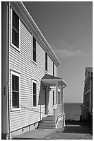 Waterfront houses, Provincetown. Cape Cod, Massachussets, USA ( black and white)