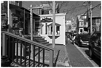 Commercial Street, Provincetown. Cape Cod, Massachussets, USA ( black and white)