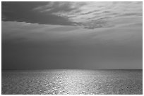 Bay and Sky, Cape Cod National Seashore. Cape Cod, Massachussets, USA ( black and white)