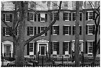 Louisburg Square, Beacon Hill. Boston, Massachussets, USA ( black and white)