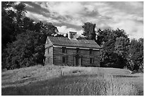 Captain William Smith house, Minute Man National Historical Park. Massachussets, USA ( black and white)