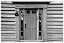 Door of Samuel Brooks House, Minute Man National Historical Park. Massachussets, USA ( black and white)
