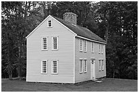 Job Brooks House, Minute Man National Historical Park. Massachussets, USA ( black and white)