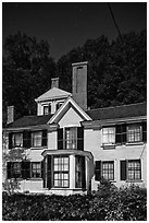 Wayside, home to Louisa May Alcott, Nathaniel Hawthorne, and Margaret Sidney.. Massachussets, USA ( black and white)