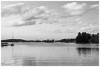 Moosehead Lake, sunset, Greenville. Maine, USA (black and white)
