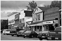 Businesses on main street, Millinocket. Maine, USA ( black and white)