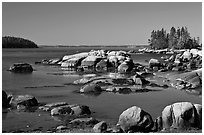 Boulders, Penobscot Bay. Stonington, Maine, USA (black and white)
