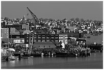 Portland waterfront. Portland, Maine, USA ( black and white)