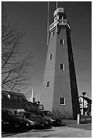 Portland observatory. Portland, Maine, USA (black and white)