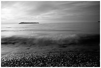 Lake Superior at Sunrise near Grand Portage. Minnesota, USA (black and white)