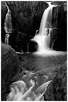 Pigeon Falls, Grand Portage State Park. Minnesota, USA (black and white)