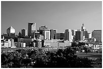 Saint Paul skyline, early morning. Minnesota, USA (black and white)