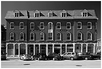 Building on main street. Concord, New Hampshire, USA (black and white)